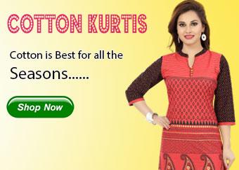 Latest Collection of Cotton Kurtas, Short Kurtis and Designer Kurtis