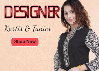 Designer Kurtis, Tunics, Long Kurtis and Beaded Tunic Collection