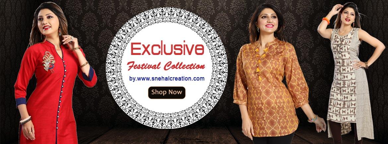 Exclusive Festiv Collection Designer Kurtis and Tunics